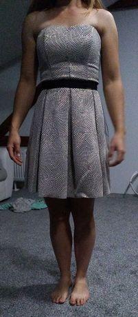 Sukienka, złoto- czarna, rozmiar XS