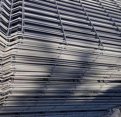 Panel ogrodzeniowy 123 cm ogrodzenia grafitowy panele ogrodzeniowe 3d