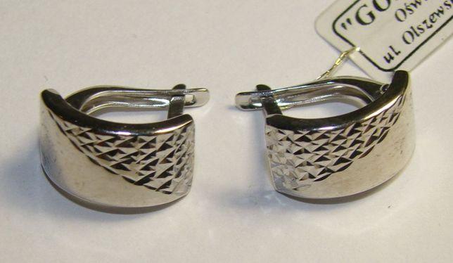 TANIO ! kolczyki srebro rodowane pr.925 -Firma Szafir- wzór S69