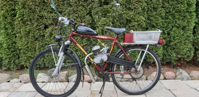 Rower z śilnikiem
