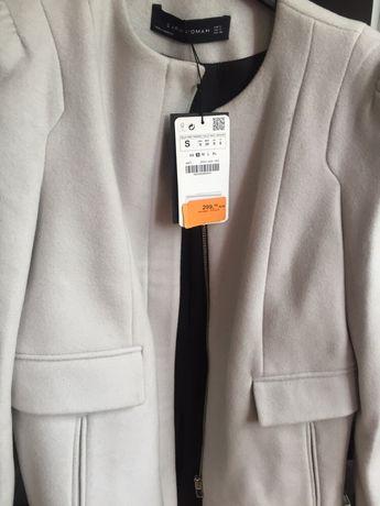 Płaszcz Zara wełniany ,nowy