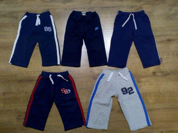 Spodnie, spodenki dresowe, jeansowe chłopięce 12-18 m (80/86)