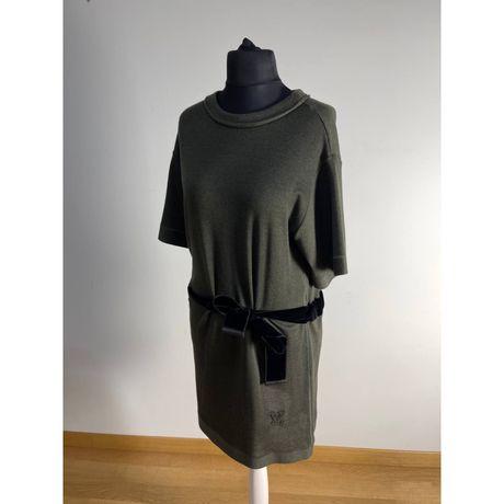Платье Louis Vuitton кашемир  с бархатным бантом