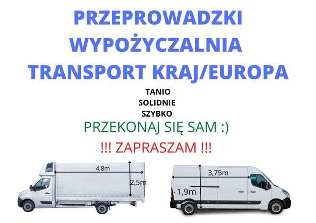 Przeprowadzki, transport, wynajem busów, samochody osobowe, tragarze