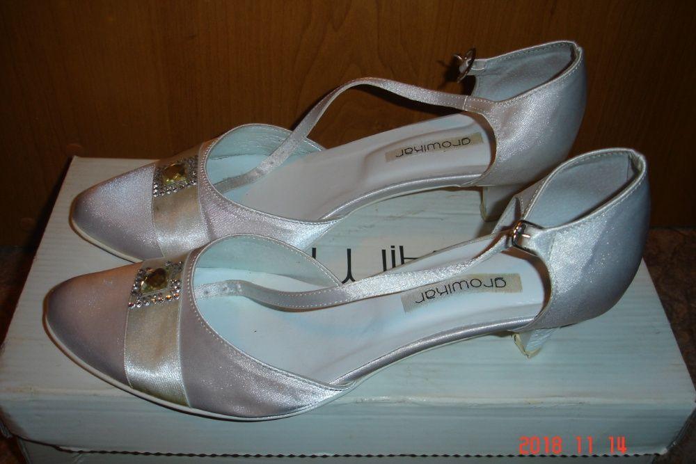 Buty ślubne rozmiar 37 Lubin - image 1