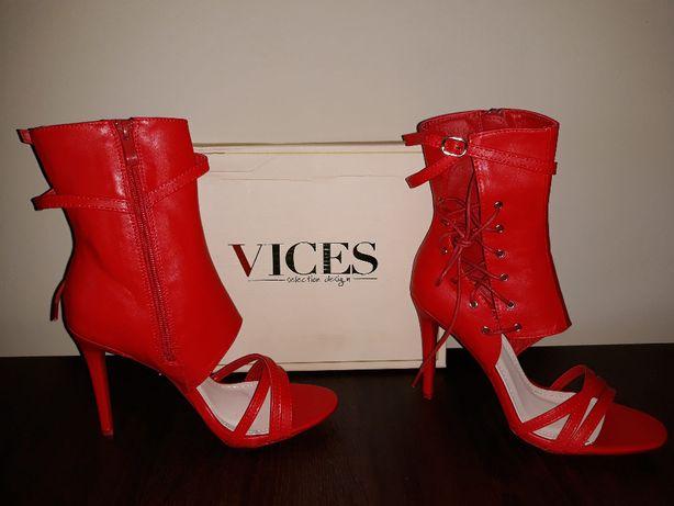 czerwone sandałki Vices 38 wyprzedaż