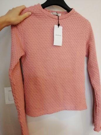 STRADIVARIUS nowa bluzka sweterek PUDROWY RÓŻ brudny róż S 36 nowy
