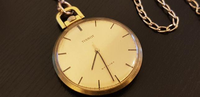Relógio de bolso Tissot com corrente
