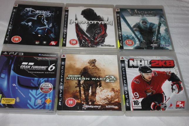 Gry na konsolę PS3 Darkness Viking Prototype NHL 2K8 Modern Warf