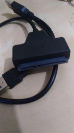 USB 2.0 to SATA 7+15 22 Pin cabo disco memoria