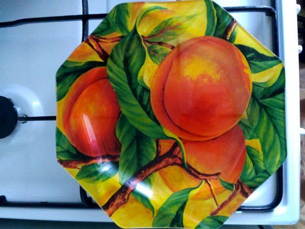 Набор большие стеклянные тарелки