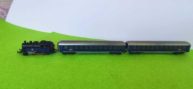 Comboio locomotiva carruagem mehano 1/87 ho