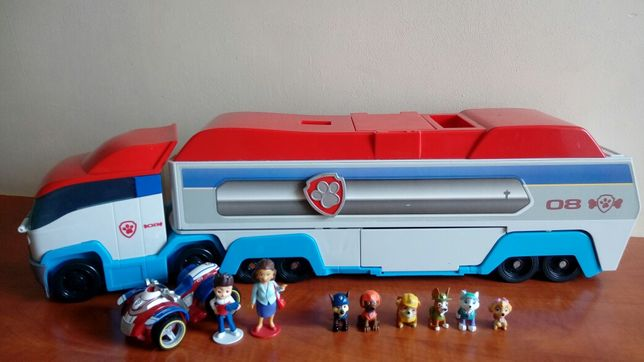 Psi patrol ciężarówka transporter + zestaw figurek i quad Ryder'a