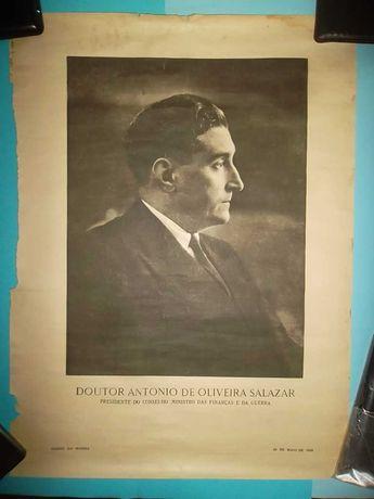 Cartaz / Poster SALAZAR e Carmona anos 40