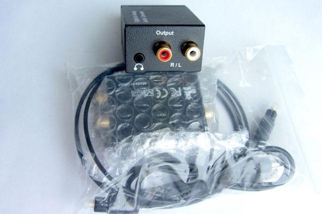 ЦАП оптико-аналоговый декодер Toslink SPDIF mini jack 3.5 RCA коаксиал
