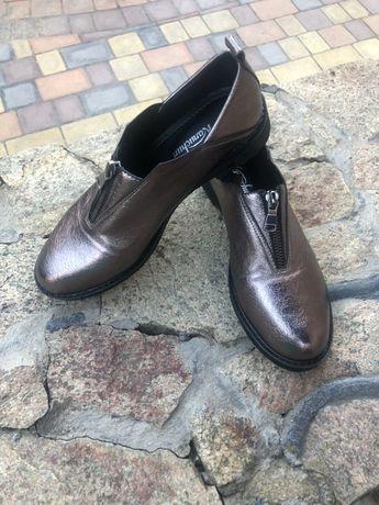 Туфли женские демисезонные, лоферы, слиперы