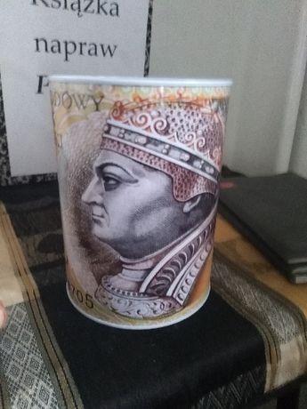Skarbonka z wzorem banknotu 200 zł na prezent nowa urodziny święta HIT