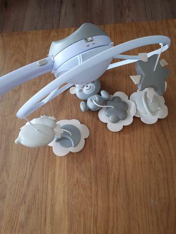 B-Kids Karuzela niemowlęca szara 3W1 Projektor Lampka Infantino