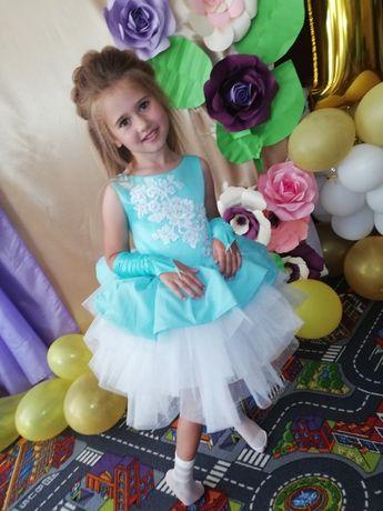 Детские пышные короткие платья Бетти на 4-5, 6-7 лет