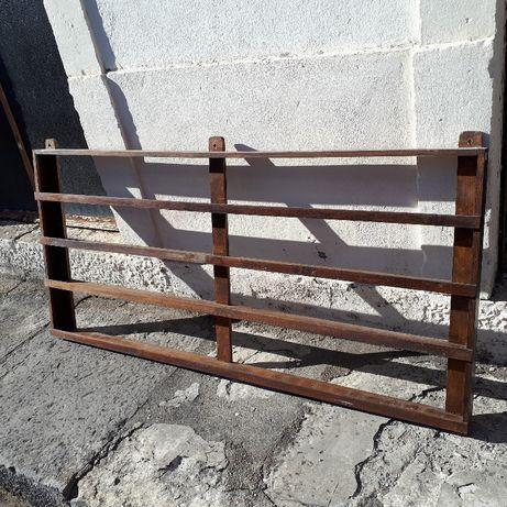 Estante / prateleira antiga para colecções ou decoração