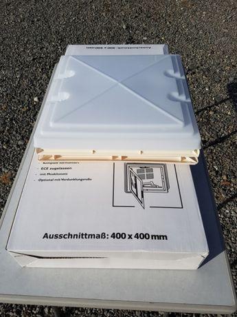 Okno dachowe MPK 42 40×40 szyberdach do przyczepy kempingowej, kampera