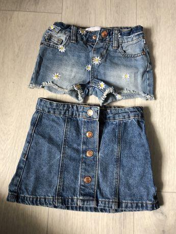 Джинсовые шорты юбка на девочку