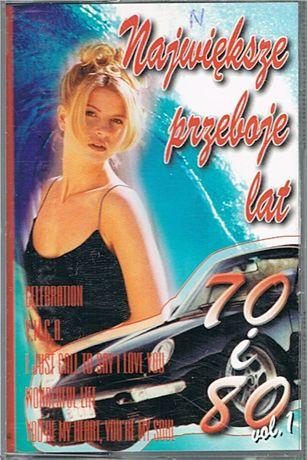 NAJWIĘKSZE PRZEBOJE LAT 70 i 80 - vol. 1 - kaseta audio - GM Music Ori