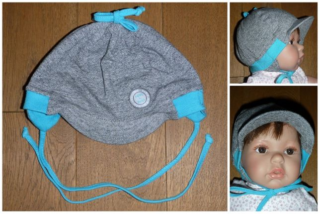 Czapeczka niemowlęca na obwód głowy 44 cm