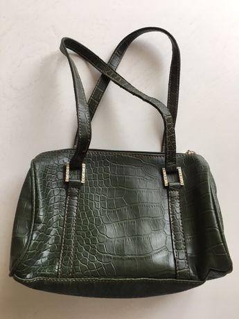 Сумочка для девочки эко кожа тиснение крокодил сумка маленькая