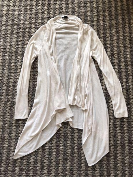 Narzutka sweterek H&M kremowy beżowy rozm S kardigan