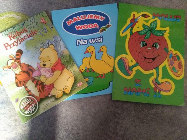 Książki do nauki pisania, kolorowanki, gazety, karty pracy dla dzieci