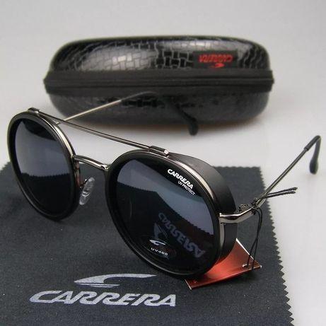 Oculos de sol carrera redondos preto matte