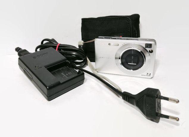 aparat sony dsc-w110 7,2mega pixseli pokrowiec , ładowarka