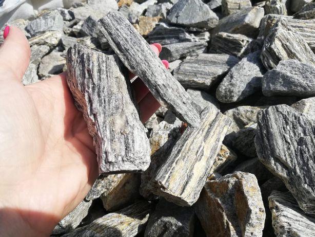 Kora kamienna kamień do ogrodu grys szary brąz pasiasty z dostawą
