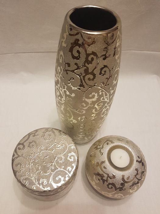 Wazon+szkatułka+świecznik home&you. Piękny zestaw !!! Polecam !!! Rumia - image 1