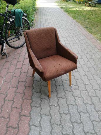 Fotel PRL patyczak retro vintage loft