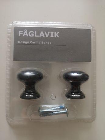 Ikea Faglavik gałka uchwyt do mebli czarny 2 szt
