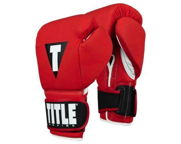 Боксерские перчатки TITLE Select Leather Training Gloves 12OZ