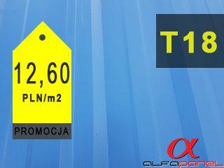 Blacha trapezowa T-18 II gatunek - 12,60zł/mb - Krosno Odrzańskie
