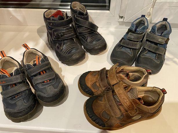Детские кроссовки ботинки полуботинки clarks , ecco (размер 25)