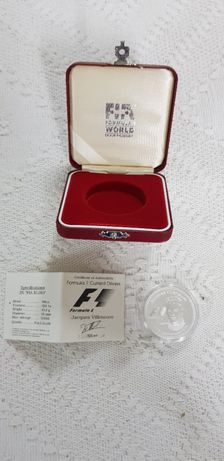 Moeda comemorativa prata FIA campeões F1 25€ - Jacques Villeneuve