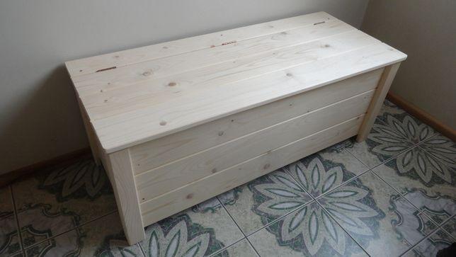 Skrzynia drewniana boazeria pióro-wpust 120X50X45