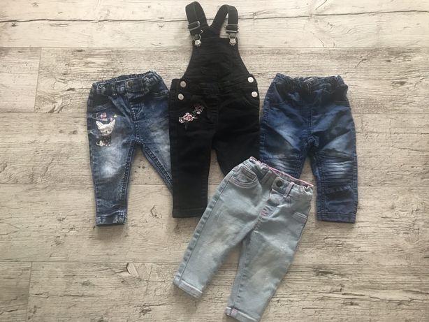 Zestaw spodni dla dziewczynki rozmiar 74