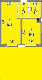 1к квартира(44м) с террасой(20м). Адмиральский проспект.