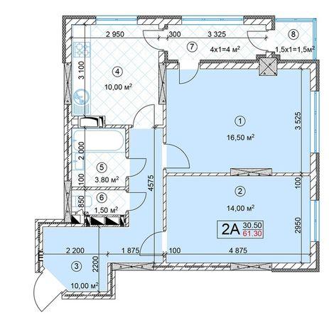 Без комісії! 2-кімнатна квартира: 54000$