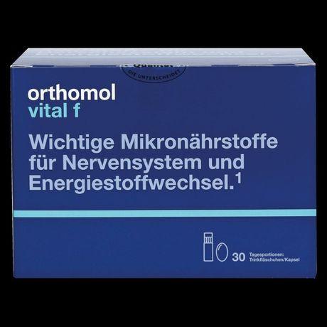 Orthomol vital f. Немецкие витамины для женщин, 30 дней, капсулы