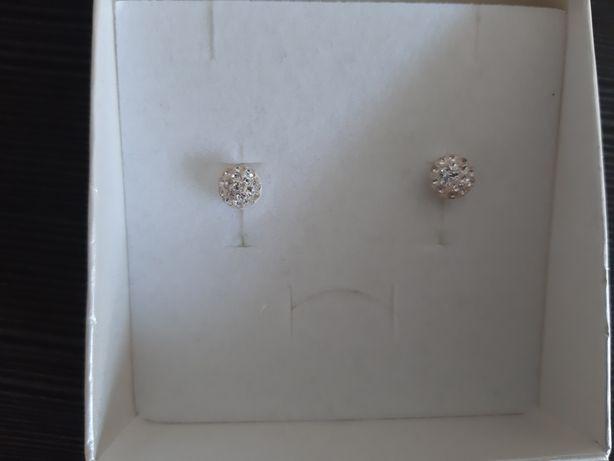 Srebrne kolczyki z krysztalkami Swarovskiego