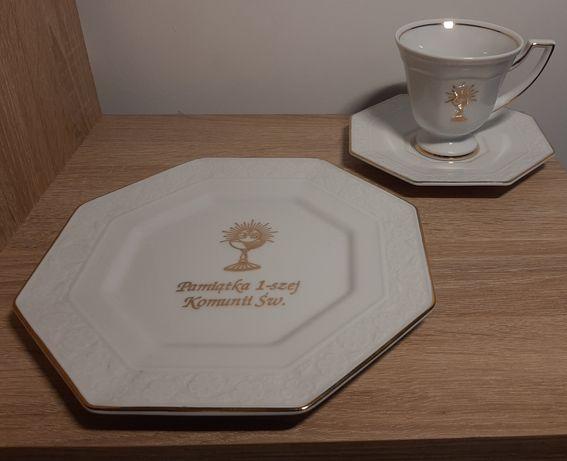 Porcelanowe naczynia na I komunię świetą