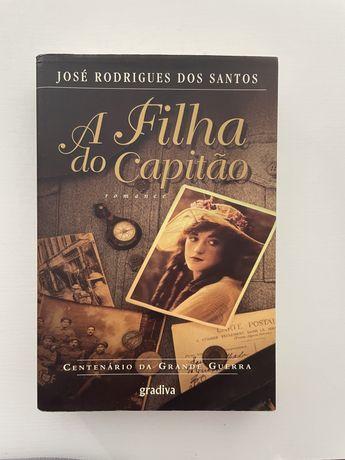 """Livro """"a filha do capitao"""" de jose rodrigues dos santos"""