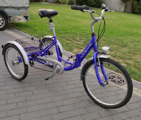 Rower trójkołowy rehabilitacyjny/viking/6biegów/opony 24x1.75 /okazja